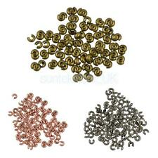 Wholesale Lots 100Pcs End Crimp Beads Knot Covers Jewelry Findings Handcraft 4MM