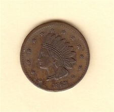 1863 Civil War Store Token - George Hyenlein Chrystie St. - USA Coin NYC NICE!