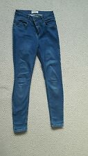 Ladies High waisted skinny jeans blue size 12 denim new look