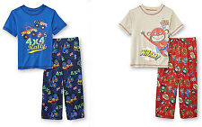 JOE BOXER Toddler Boy 2PC SUPER~Monkey MONSTER~Truck Sleepwear Pajama Set PJ NWT