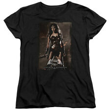 DC COMICS BATMAN VS SUPERMAN WW POSTER WOMENS T-SHIRT SM TO 2XL