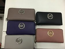 Michael Kors Fulton Zip Around Continental Wallet (In Various Colors)