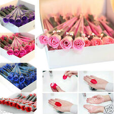 30pcs Scented Rose Flower Petal Bath Rose Body Soap Wedding Party Gift 6 Colors