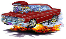 1962-63 Ford Galaxie Muscle Car Art Print NEW
