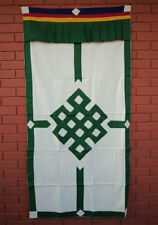 Tibetan Thick Fabric Cotton Door Curtain with Endless Knot Design