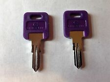 2 FIC RV PURPLE Plastic Head Code Cut Keys EF301- EF351,(CH751- BRASS ONLY)