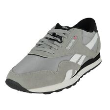 Reebok AR2779: Classic Nylon Ts Fashion Sneaker Mgh Solid Grey/White/Black MEN