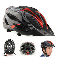 Cycling Bicycle Adult Mens Bike Helmet Red carbon color With Visor Mountain SS