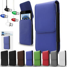 PU Leather Vertical Belt Case And Headphones For Samsung I929 Galaxy S II Duos