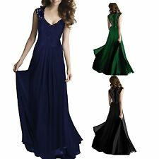 Sexy Women Lace Maxi Evening Party Elegant Bridesmaid Ball Gown Prom Dress