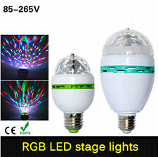 3W E27 RGB Crystal Ball Rotating LED Stage Light Bulbs Disco Party Bulb Lamp