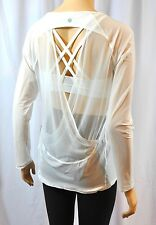 NWT Lululemon If You're Lucky Long Sleeve Tee White Sheer Shirt Top Sz 8 10 12