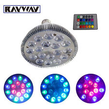 E27 36W 54W RGB LED Light Color Changing Lamp Bulb 85-265V With Remote Control