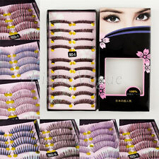 10 Pairs Womens Natural Long False Eyelashes Makeup Eye Handmade Lash Lashes 07o