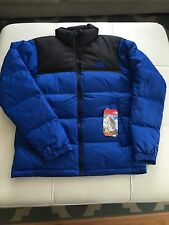 NWT THE NORTH FACE MENS NUPTSE 2 II DOWN JACKET BLACK AND BLUE FULL ZIP