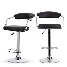 Set of 2/Set of 4 Modern Swivel Height Adjustable Bar Stools Faux Leather C6I2