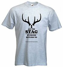 I AM THE STAG T-SHIRT - Funny Stag Party Do Wedding - Choice Of 9 Colours
