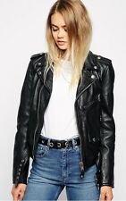 Women's Leather Jacket Slim Fit Genuine Lambskin Biker Motorcycle Jacket  WJ138