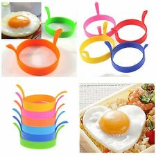 Silicone Egg Fried Oven Pancake Mould Poach Ring Kitchen Tool Random colour