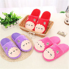 Men Women Sheep Slippers Soft Warm Plush Cotton Anti-slip House Indoor Shoes   X
