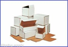 """50 Pack - White Corrugated Mailer Shipping Boxes (Small 3"""" - 6"""") - 60 Sizes"""