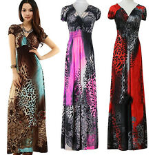 Women Summer Sexy Beach Bohemian Maxi Dress Leopard Evening Party Skirt Trusted