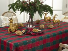 Fennco Styles Royal de Noel Classic Plaid Holiday Square Tablecloth - 6 Sizes