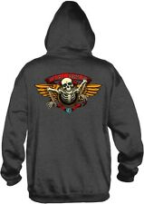 Powell Peralta - 40th Anniversary Winged Ripper Hoodie Charcoal