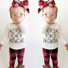Cute Newborn 6 9 12 18 24 Months Baby Girls Outfit t Shirt Pant Clothes Set