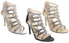 Womens Kate Diamante High Heel Evening Party Wedding Prom Bridal Sandal Shoes