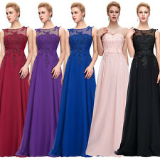 Long Wedding Bridesmaid Evening Dress Party Prom Dresses Cocktail Ball Gown