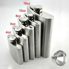 Stainless Hip Liquor Whiskey Alcohol Pocket Flask+Funnel+Cup Gift 3T