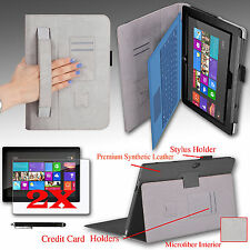 "For Microsoft Surface RT Surface 2 10.6"" Tab Cover Case w/ Hand Strap + Bundle"
