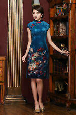 Fashion Chinese women's Elegant MINI Dress traditional Cheongsam charming Qipao