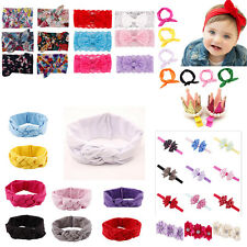Girl Toddler Baby Headband Lace Bow Flower Kids Hair Band Accessory Headwear FKS