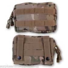 MTP SMALL WEBBING POUCH UTILITY MOLLE ZIPPED MULTICAM BRITISH ARMY CADET