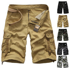 Mens Shorts Stylish Casual Military Trousers Combat Camouflage Cargo Baggy PANTS