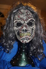 ◆ HALLOWEEN Ghoul Dead Corpse Undead Zombie Witch Child Mask with hair Prop