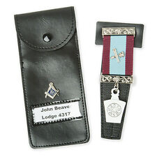 NEW Masonic Jewel Holder Case Craft, Mark. RA, Knights, Malta
