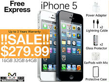 iPhone 5 16 32 64GB White/Space Grey up to 3 Y Warranty Unlocked New 4G