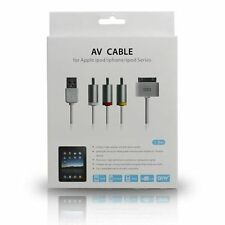 1.8M 30PIN RCA Composite AV USB Adapter Charger Cable for iPhone iPad iPod Touch