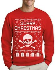 Ugly Christmas Sweater - Skull Scary Christmas Cool Sweatshirt Gift Idea