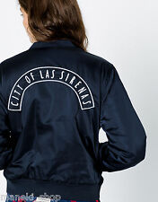 PULL & BEAR (ZARA group) navy blue bomber jacket w embroidery on back 9710346 AW