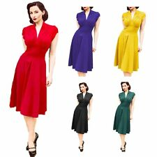 Women Flared Pleated Elegant Swing Dress Evening Beach Party Sexy Ladies Dress