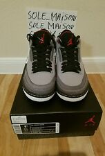 NIKE AIR JORDAN RETRO 3 STEALTH 2011 SIZE 9.5 DEADSTOCK 136064 003