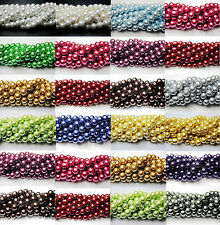 Wholesale 100 Popular Quality Charms Czech Glass Pearl Round Beads 4/6/8/10/12mm