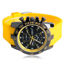 Mens Quartz Sport Wristwatch Fashion Military Silicone Band Analog Multi-color