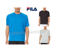 FILA MENS SHORT SLEEVE CREW NECK ACTIVE TEE WITH STITCHING!  #948286