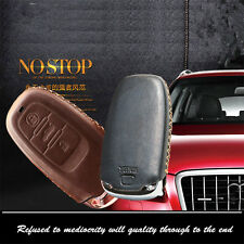 Car Remote Key Car Remote Key Top Leather Fob Case Holder Cover Chains For Audi