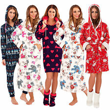 Womens New Luxurious Soft Loungewear Nightie All In One Dressing Gown Or Onesie